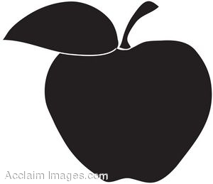 Silhouette of an Apple