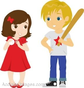 clipart illustration of a boy and girl with baseball gear rh clipartguide com boy and girl clipart love school boy and girl clipart