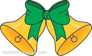 Golden Bells With Green Bow