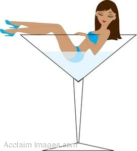 Woman in a Martini Glass