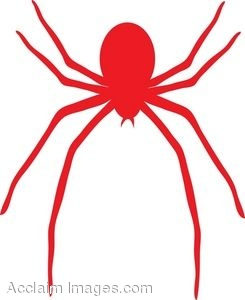 clip art picture of a red spider rh clipartguide com clipart spiderman clip art spiderman