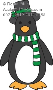 Penguin in a Hat and Scarf