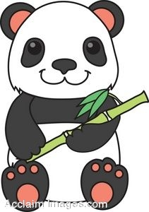 clipart picture of a panda bear with bamboo stock rh clipartguide com panda bear clip art for valentines day panda bear clipart black and white