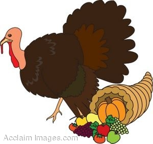 Cornucopia With A Turkey