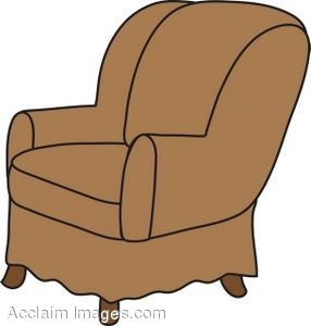 sc 1 st  Clipart Guide & Clip Art Picture of an Arm Chair- Brown