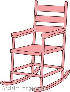 clip art picture of a child 39 s pink rocking chair. Black Bedroom Furniture Sets. Home Design Ideas