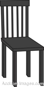 Royalty Free Clipart Illustration Of A Black Wooden Chair