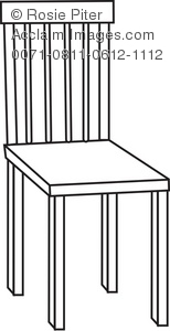 Wooden Chair Royalty Free RF Clip Art Picture
