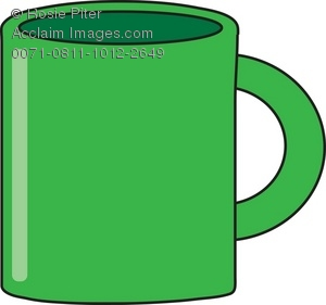 Drawing of a Green Coffee Mug As a Royalty-Free Clipart Illustration