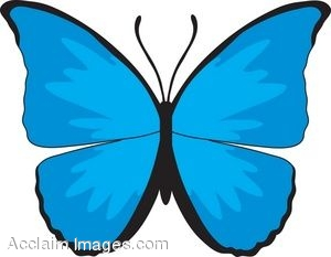 clip art picture of a blue butterfly rh clipartguide com blue butterfly clipart border blue monarch butterfly clipart