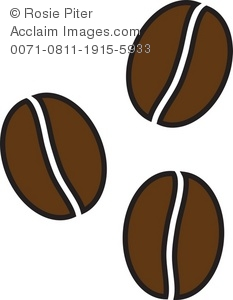 royalty free clipar illustration of coffee beans in a simple drawing rh clipartguide com coffee bean clipart png coffee bean clip art borders free