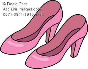 Women s Shoes   Pink Pumps Royalty Free (RF) Clip Art Picture aee87530e1f