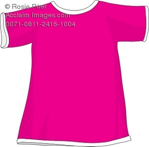 Hot Pink T-Shirt Royalty Free (RF) Clip Art Picture