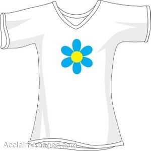 clipart picture of a white t shirt with a flower graphic rh clipartguide com Popular T-Shirts Popular T-Shirts