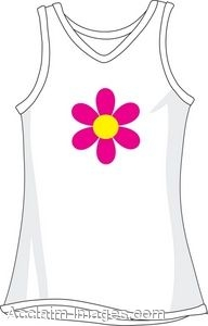 White Tank Top With Flower Graphic