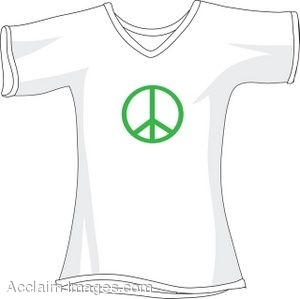 T-Shirt With a Peace Sign