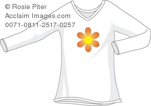White T-Shirt With Flower