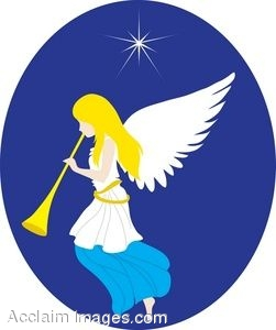 clipart of an angel playing a trumpet rh clipartguide com christmas angels clip art christmas angel clipart free