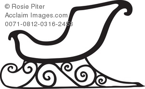 christmas sleigh royalty free rf clip art picture silhouette clipart guide