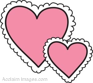 Frilly Pink Hearts