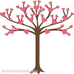 Clipart of a tree with heart shaped leaves mightylinksfo