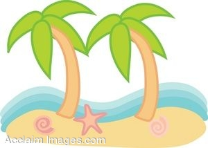 clipart picture of a beach scene with palm trees rh clipartguide com beach scene clipart images summer beach scene clipart