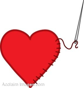 Needle Sewing a Heart