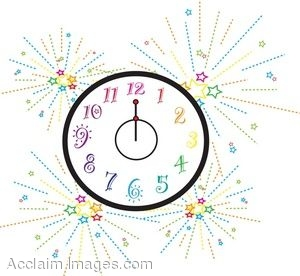 clip art picture of a new years clock rh clipartguide com clipart new years eve party clipart new years celebration
