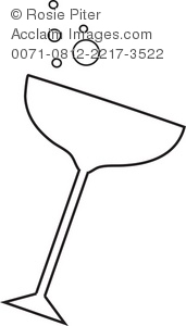 Outline of a Champagne Glass