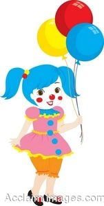 Girl Dressed up As a Clown