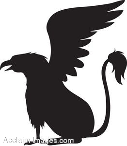 Silhouette of a Griffin