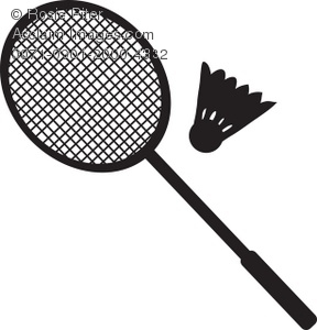 badminton racket and birdie silhouette royalty free clip art picture rh clipartguide com badminton clip art free badminton clipart png