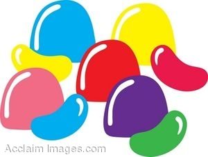 Clip Art Of Gumdrops And Jellybeans Easter Candy