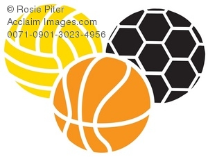 assorted sports balls including a soccer ball of volleyball and rh clipartguide com free clipart sports balls clip art black and white sports balls