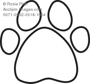 dog or animal paw print outline royalty free clip art picture rh clipartguide com clip art paw prints dogs clipart dog paw prints