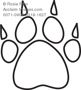 Dog Paw Print With Claws