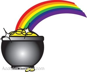 clip art picture of the pot of gold at the end of a rainbow rh clipartguide com