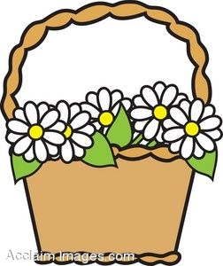 clip art picture of a basket of daisies rh clipartguide com clip art basketball net clipart basketball player