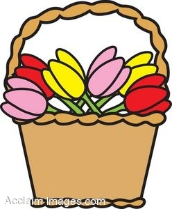 clip art picture of a basket of tulips rh clipartguide com basketball clipart images basket clipart images