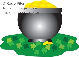 Pot of Gold With Clovers