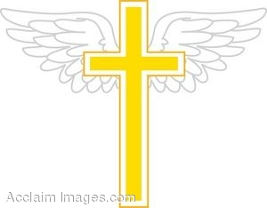 Golden Cross With Wings