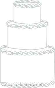 Clip Art Of An Undecorated Wedding Cake