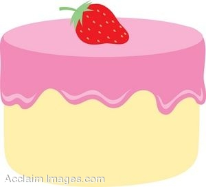 Strawberry Frosted Cake