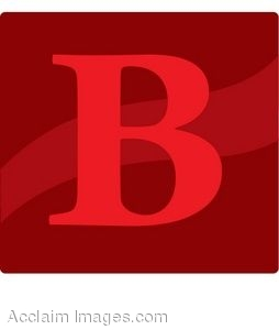 Red Letter B Icon