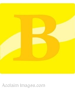 Yellow Letter B Icon