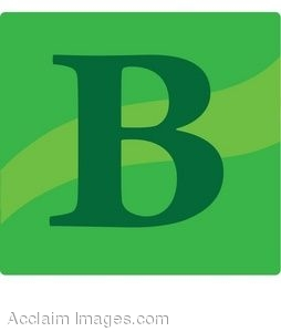 Green Letter B Icon
