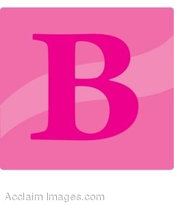 Pink Letter B Icon
