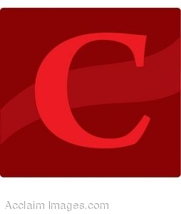 Red Letter C Icon