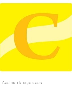 Yellow Letter C Icon