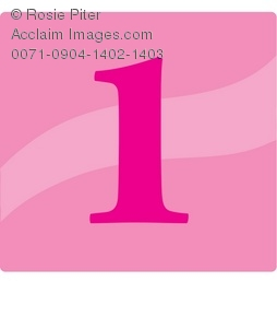 Pink Number Icon